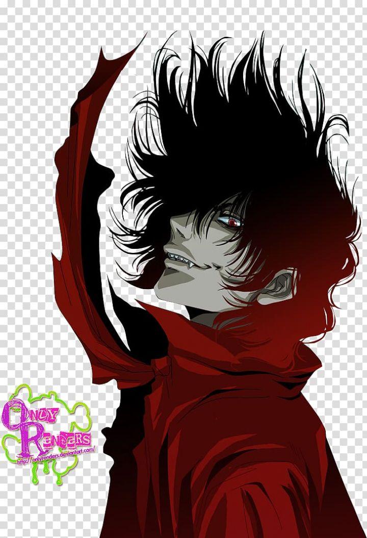 Alucard Hellsing Anime Fan art, Vampire transparent