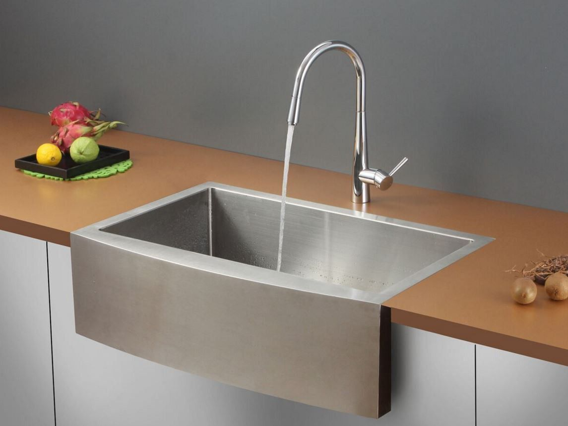 Ruvati 33 stainless steel farmhouse sink set rvc2432