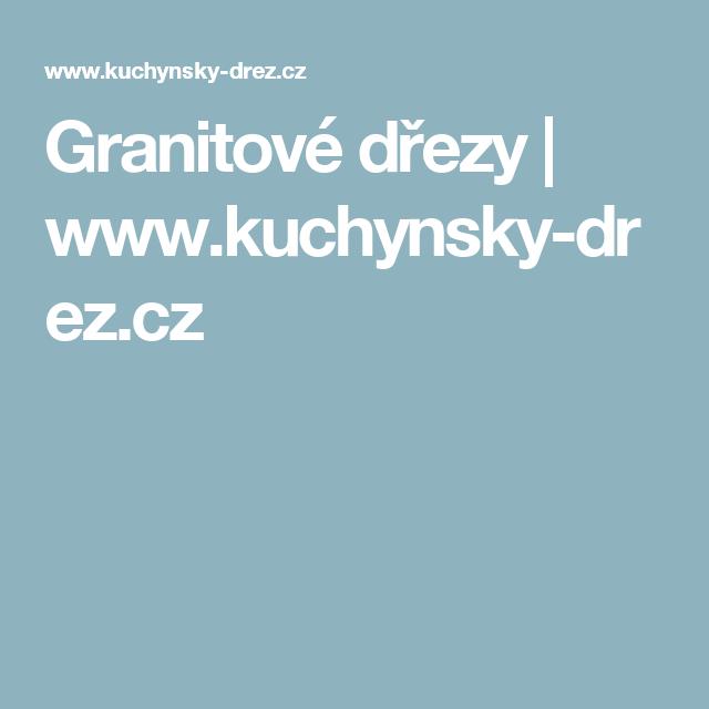 Granitové dřezy | www.kuchynsky-drez.cz
