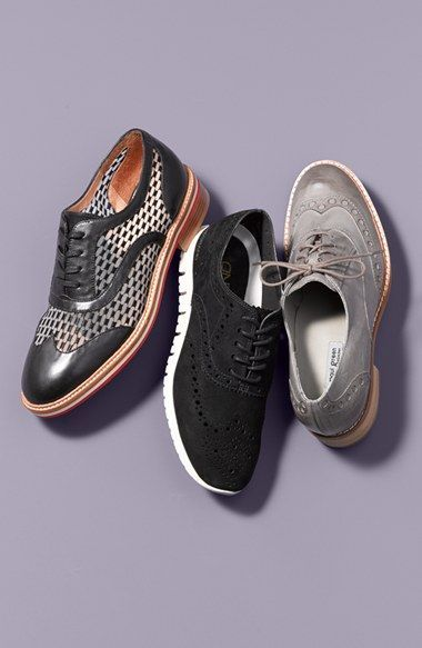 Cole Haan 'ZerøGrand' Perforated Oxford (Women) (Nordstrom Exclusive)  available at #Nordstrom | Fashion | Pinterest | Cole haan, Oxfords and  Nordstrom