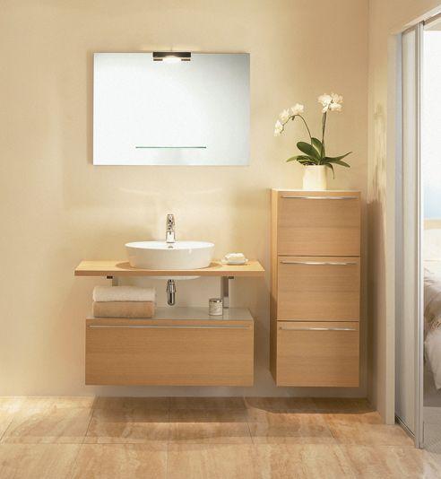 Muebles Baño Sobre Encimera | Aseos Con Lavabos Sobre Encimera Buscar Con Google Bano