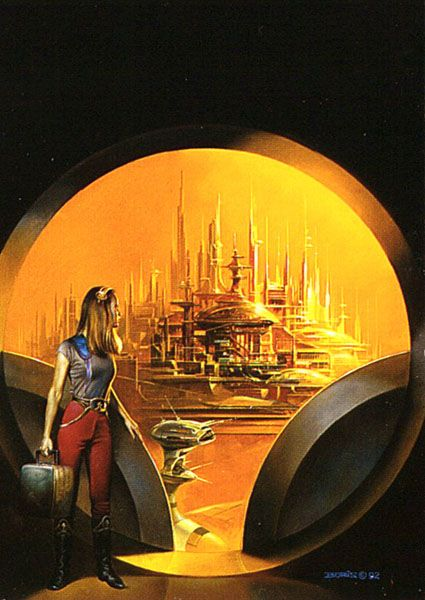 Arriving In The City By Boris Vallejo Artist Boris Vallejo Delectable Inspirational Alien City