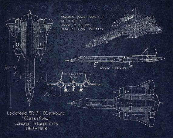 Sr 71 blackbird airplane blueprint art by scarletblvd on etsy blackbird airplane blueprint art by scarletblvd on etsy malvernweather Image collections