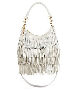 e3fda015035 Saint Laurent Emmanuelle Small Fringed Leather Hobo Bag | I Love ...