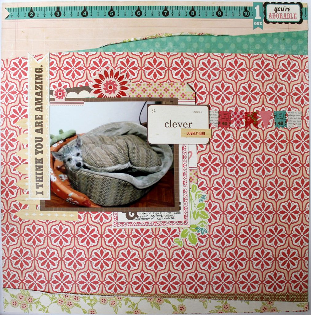 """""""Clever Girl"""" 12x 12 layout using """"this & that"""" collection by @echoparkpaper"""