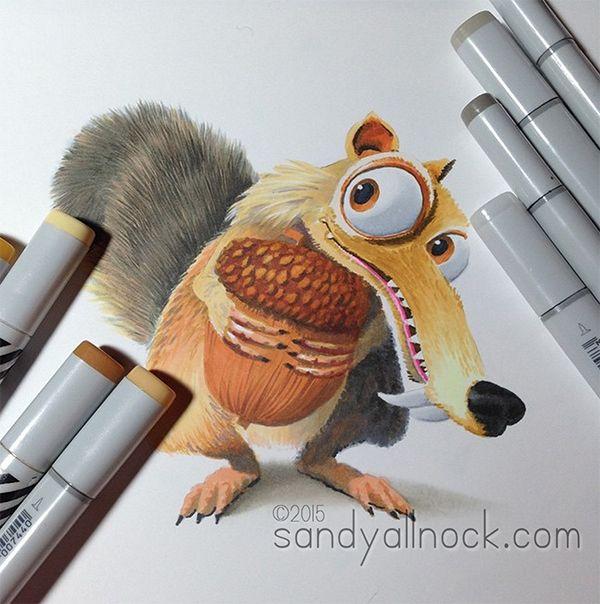 Magical Monday: Drawing Scrat   Sandy Allnock