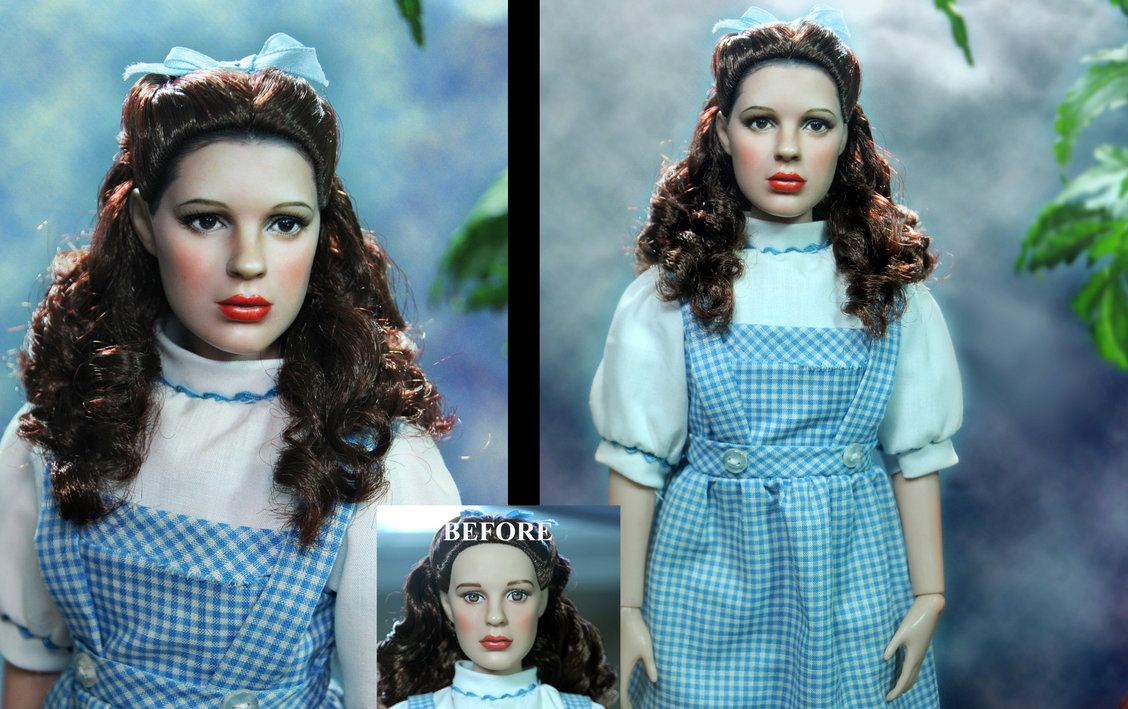 Wizard Of Oz Emerald City Dorothy Doll Repaint Doll Repaint Wizard Of Oz Custom Dolls