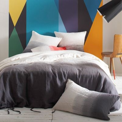 housse de couette pur lin tie dye bensimon bensimon. Black Bedroom Furniture Sets. Home Design Ideas