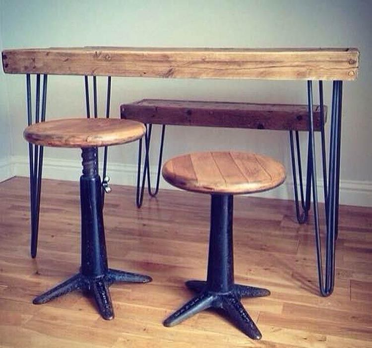 4 Great Hairpin Leg Tables From Anthropologie Cord Industries Rough Luxe Interiors And Renn Uk Reclaimed Furniture For Warehouse