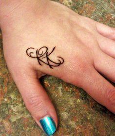 tattoos letters cursive r k , Google Search