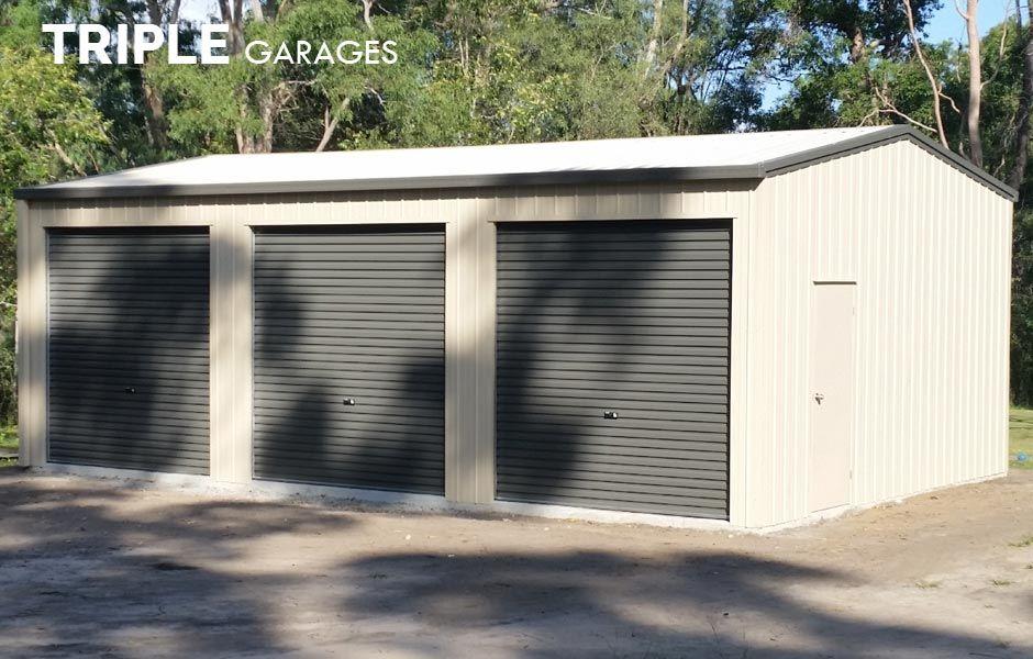 Triple Garages for Sale Steel sheds, Metal buildings, Shed
