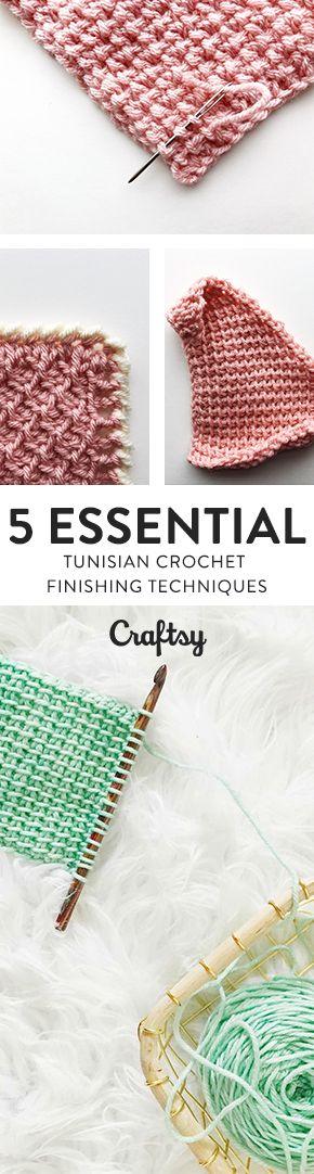 Tunisian Crochet Finishing: Binding Off, Weaving in Ends, Blocking ...