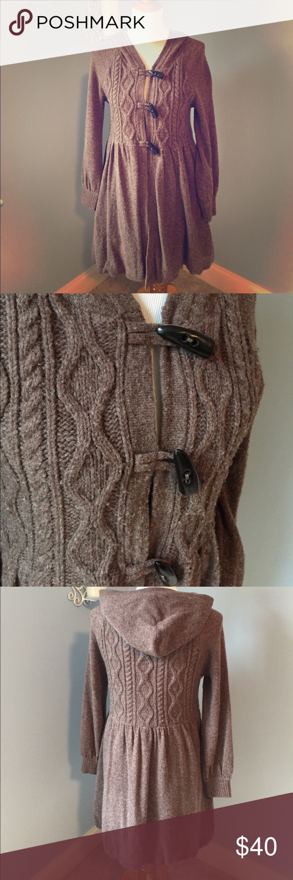 Free People sweater coat size small Perfect for Fall- cable ...