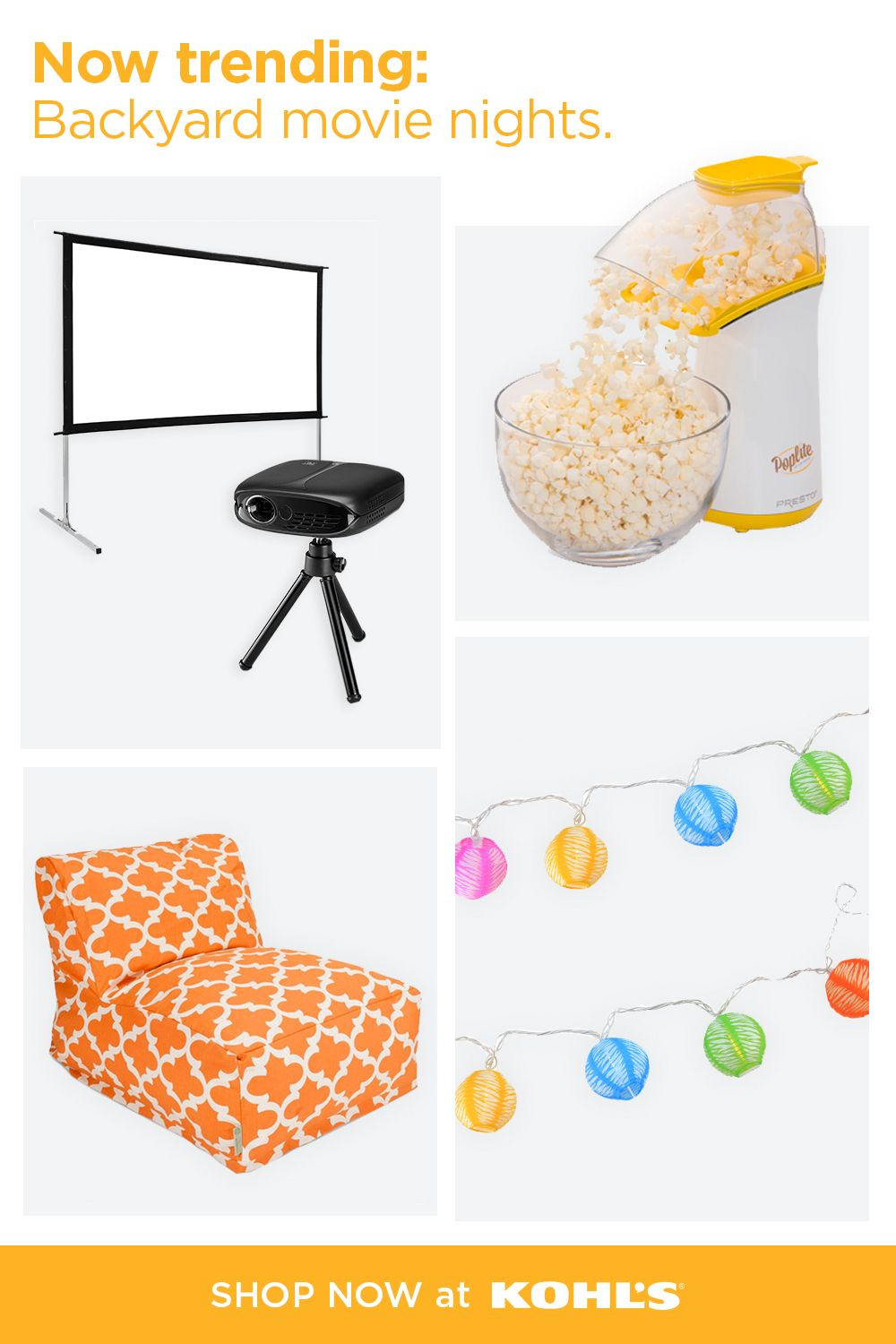 Find backyard movie musthaves at Kohl's. in 2020