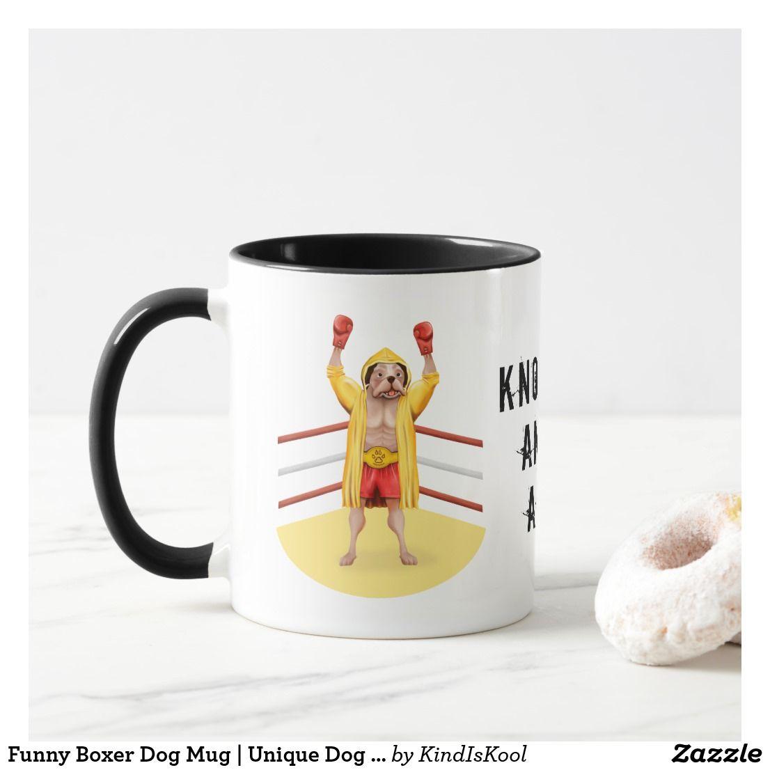 Funny boxer dog mug unique dog owner gifts