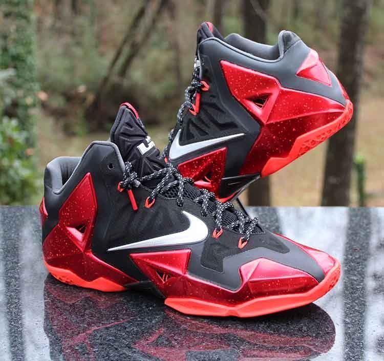 c611681039925 Nike LeBron 11 XI Miami Heat Away 616175-001 Black Red Men s Size 11  Nike   BasketballShoes