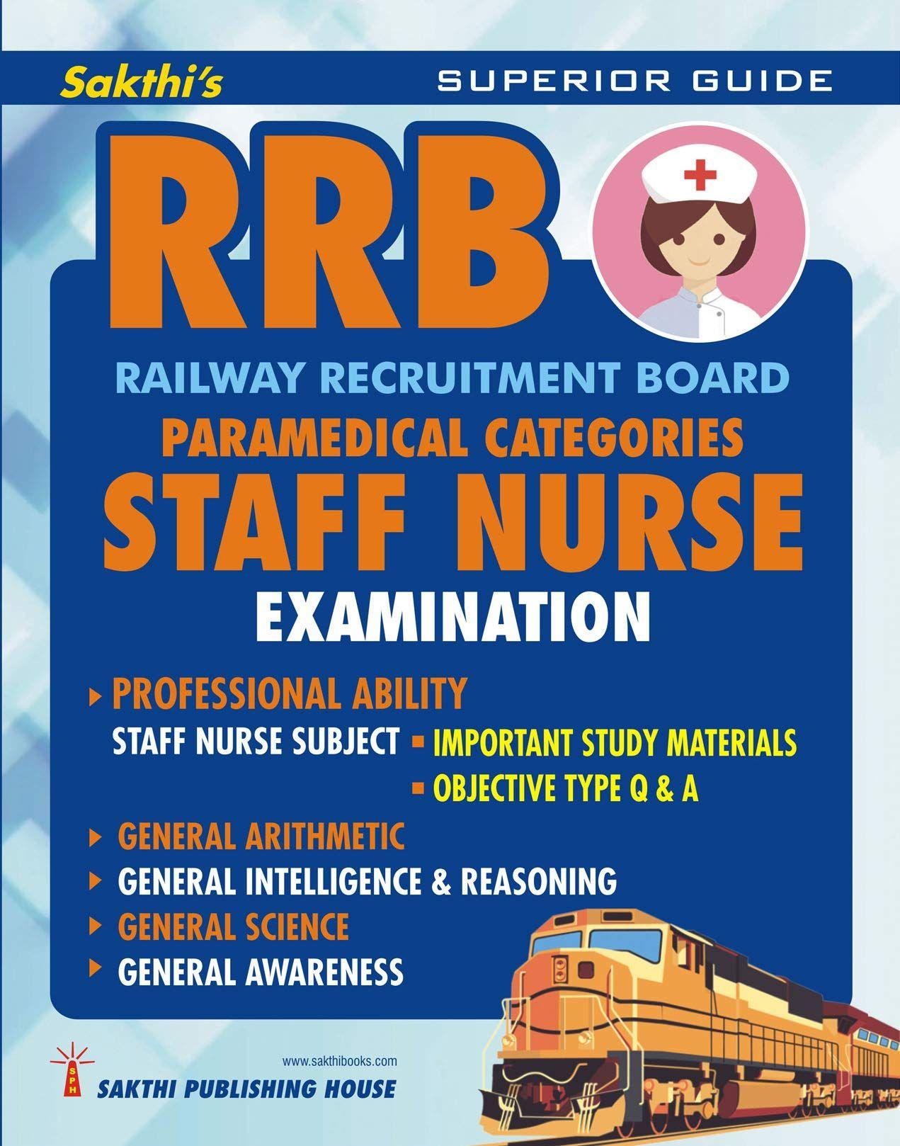 RRB Staff Nurse Examination Book 2019,Staff Nurse Exam Books Free