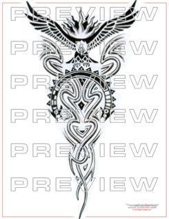 amazing condor tattoo design with tribal art cool tattoo