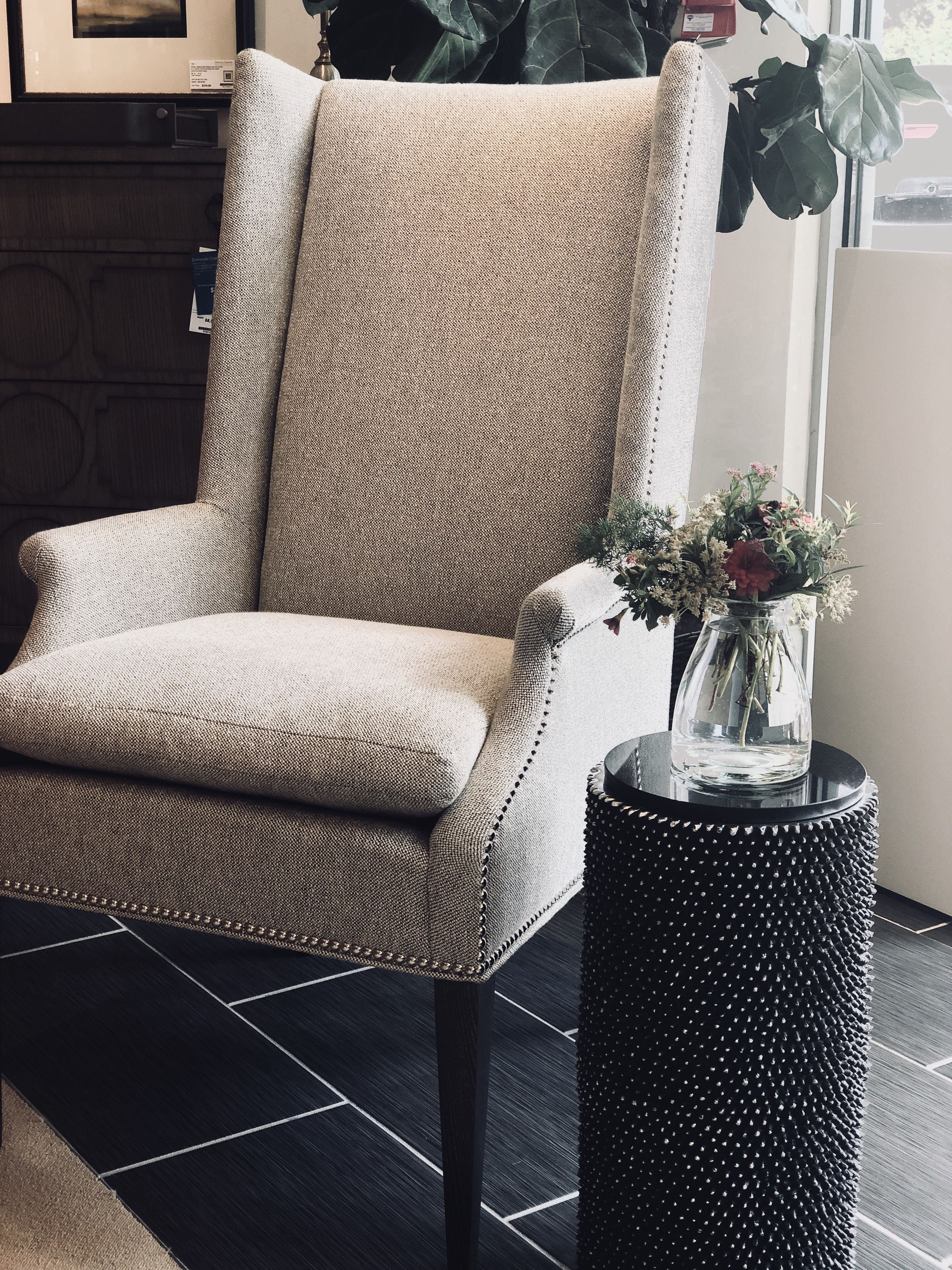 The chic Martin Host Chair from Hickory Chair is available