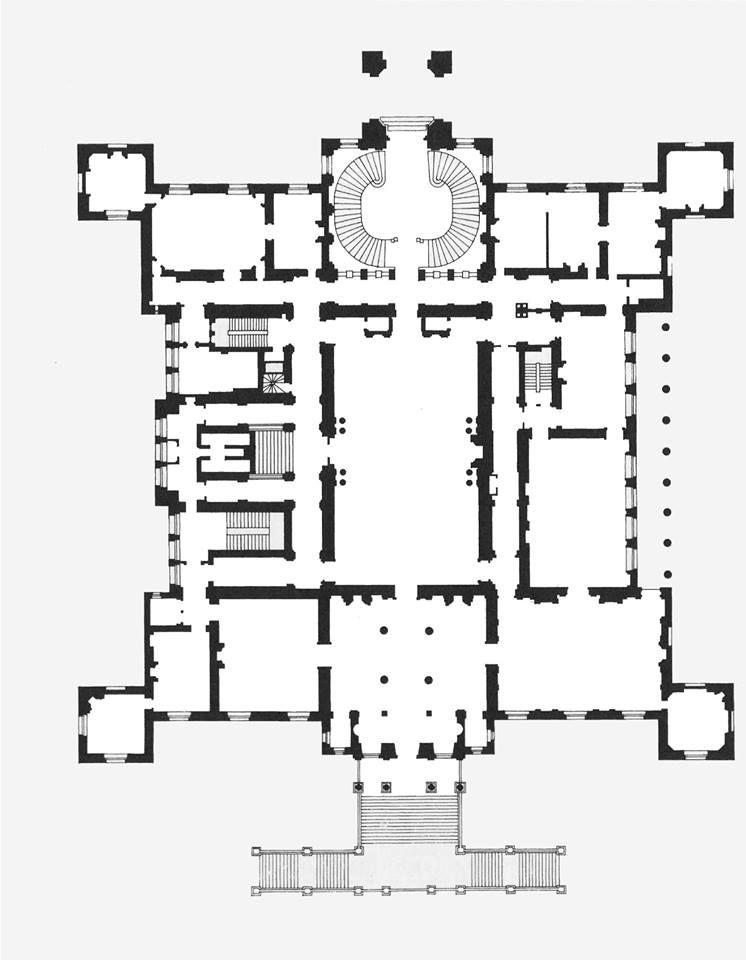 Chateau De Ferrieres Plan Du Premier Etage Castle Floor Plan Architectural Floor Plans Floor Plans