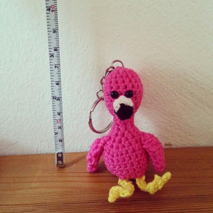 Crochet Flamingo Keychain Haken Amigurumi Pinterest
