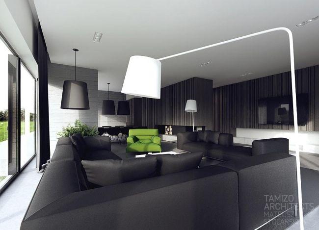 Idées Décoration Interieur en noir et blanc Salons and Interiors