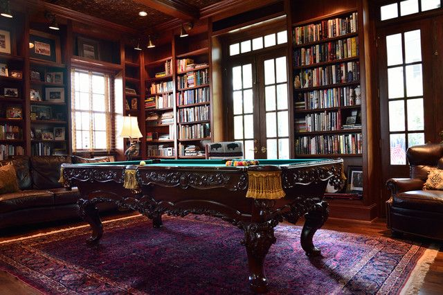 Billiard Room at Chteau de Groussay Classy Home Billiard Snooker
