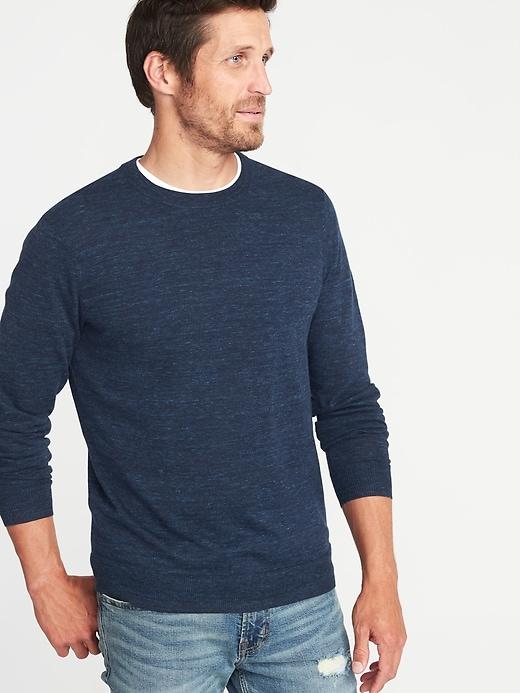 XXL Men Long Sleeve Ribbed Top Regular Fit Navy Cotton Casual T-Shirt Size XS