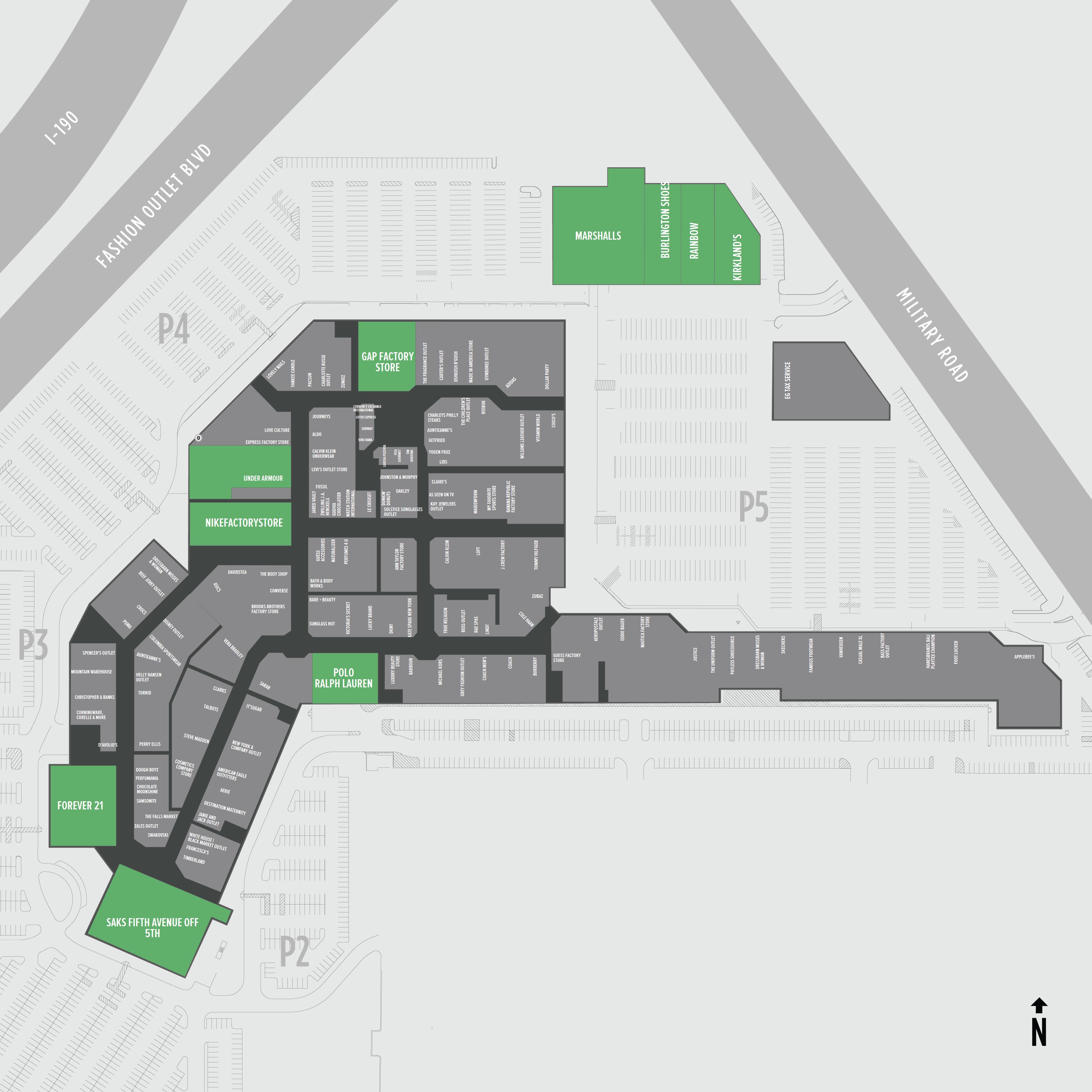 niagara falls outlet mall map Mall Map Of Prime Outlets Niagara Falls Ny Sinalizacao Shopping niagara falls outlet mall map
