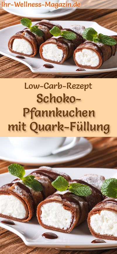 low carb schoko pfannkuchen mit quark f llung s es pfannkuchen rezept low carb pinterest. Black Bedroom Furniture Sets. Home Design Ideas