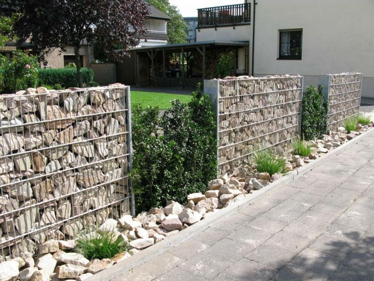gaviones decorativos para el jard n y jardiner a originales diseños de muros de piedras Cierres De Fincas, Diseño De Muros,  Gaviones,