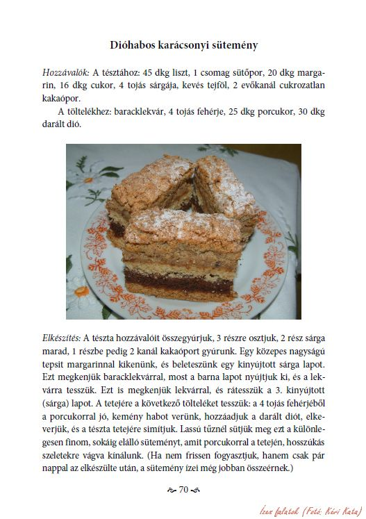 Kéri Jánosné Stadler Katalin: Édes emlékek - Válogatott süteményreceptek. Virágmandula Kft., Pécs, 2015. - Karton, A/5, 203 o. - ISBN 978-615-5497-62-9 -- A könyv 170. oldala