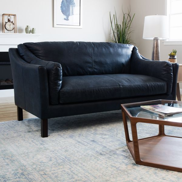 blue leather loveseat reginald oxford blue leather sofa feathers home and leather
