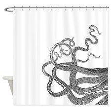 Kraken tentacles Shower Curtain