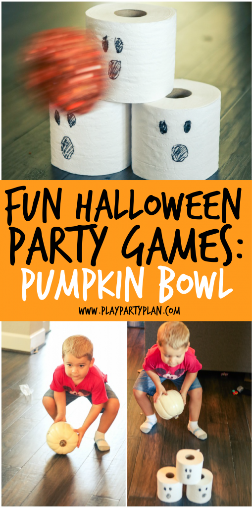 to halloween at games party a play
