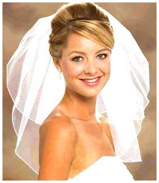 Bridal Updo Hairstyles With Tiara And Veil