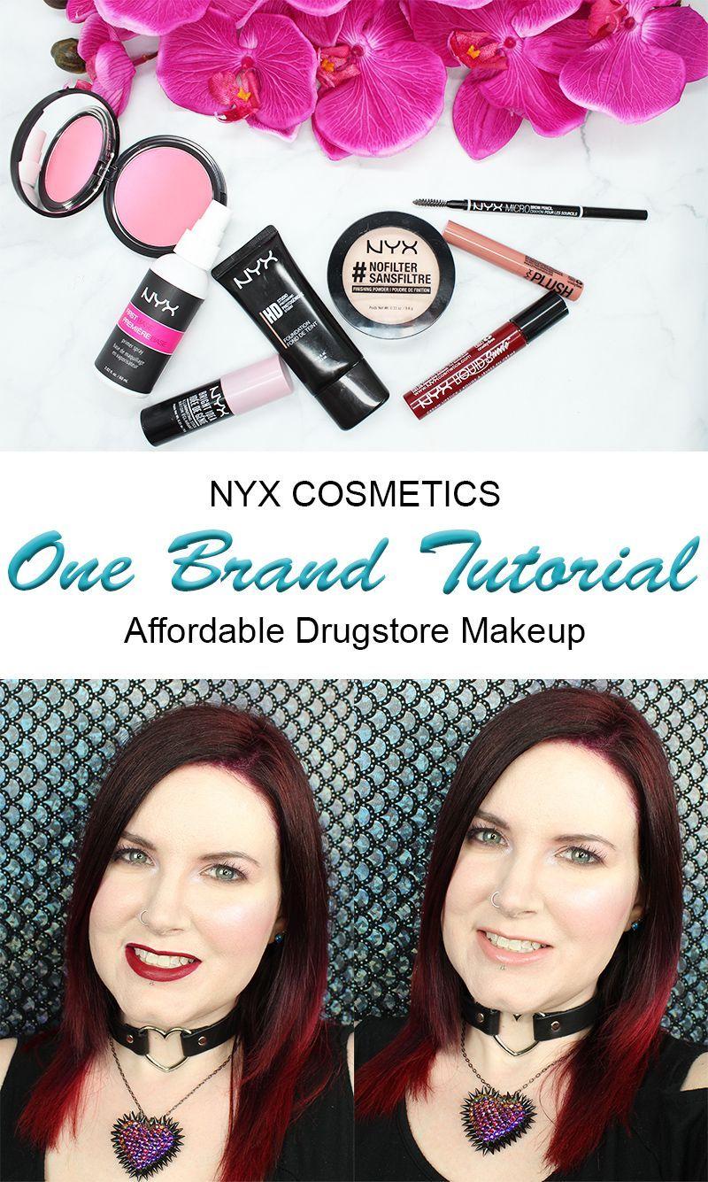 One Brand Drugstore Tutorial Nyx Cosmetics Nyx cosmetics