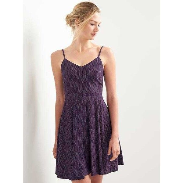 c0ae3d0ec5 Gap Women Fit And Flare Cami Dress ( 50) ❤ liked on Polyvore featuring  dresses