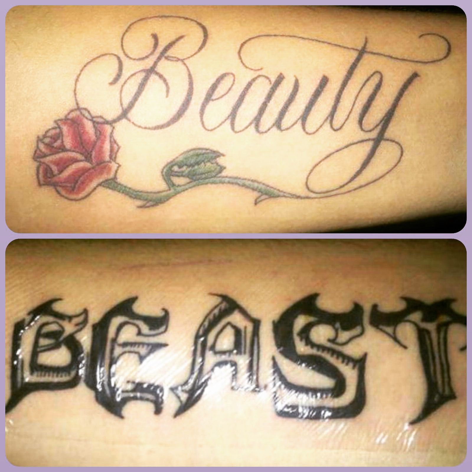 1000 images about tattos on pinterest beauty and the beast henna - Our Beauty And The Beast Tattoos We Just Got