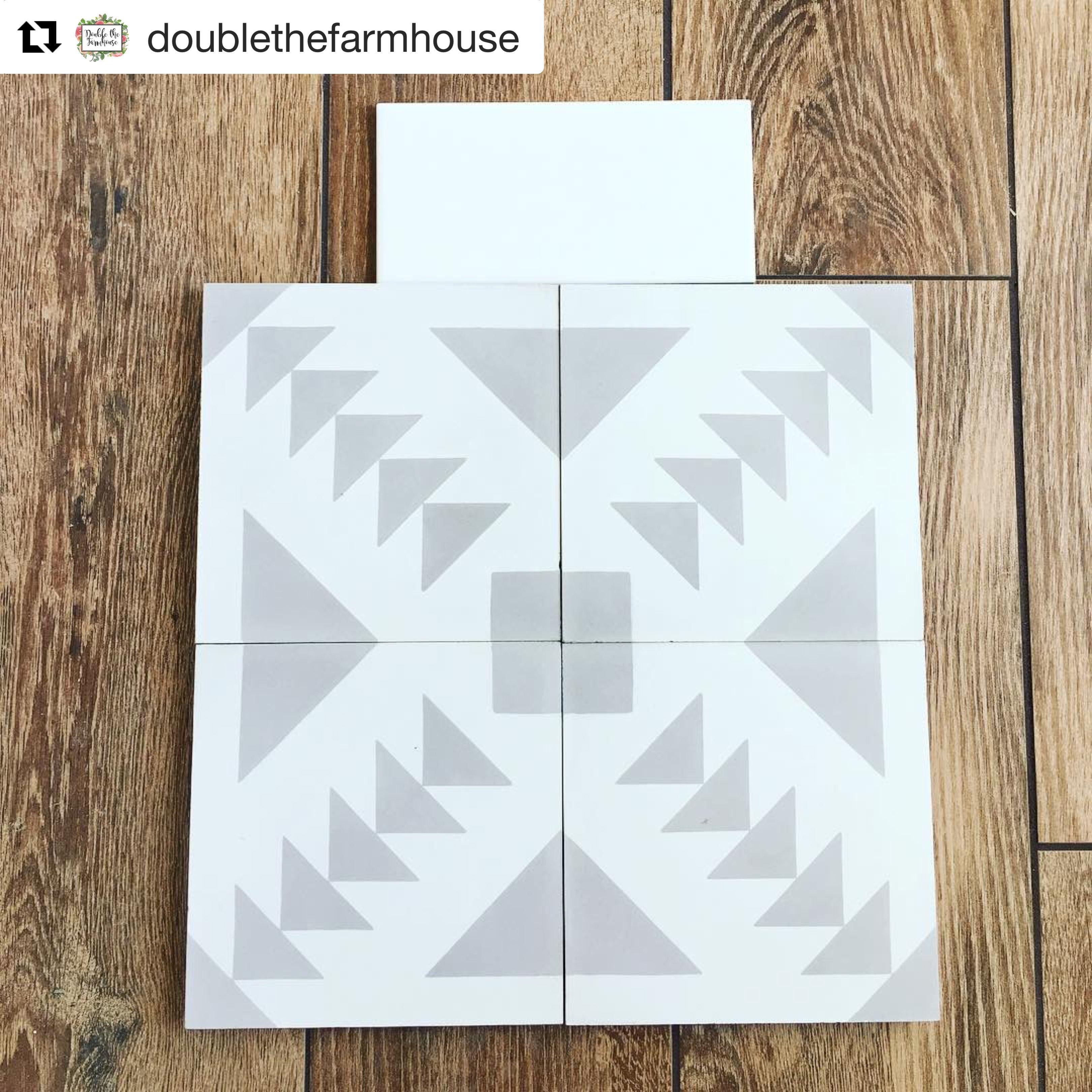 Zanzibar Grey Cement tile from Riad Tile. Buy it here https://www ...