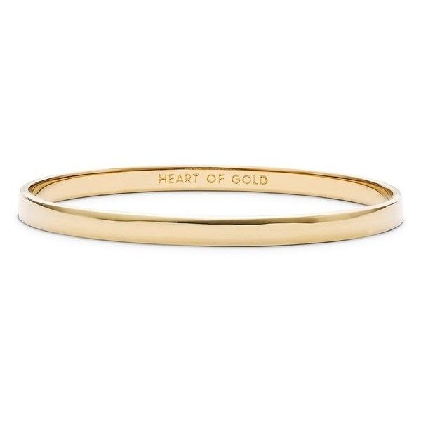 Women's kate spade new york 'idiom - heart of gold' bangle found on Polyvore