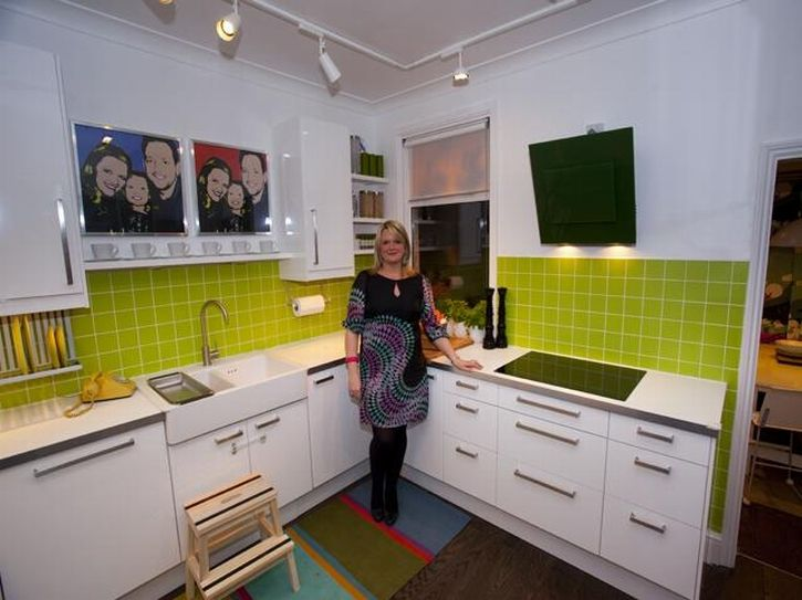 nice ikea small kitchen ideas with white background and green