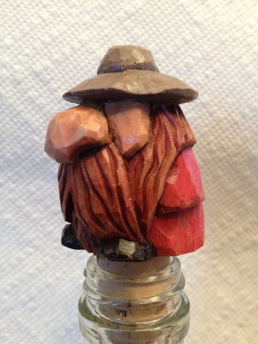 Big Nose Caricature Bottle Stopper By Rwk Woodcarving Www Rwkwoodcarving Etsy Com Wood Carving Patterns Carving Whittling Projects