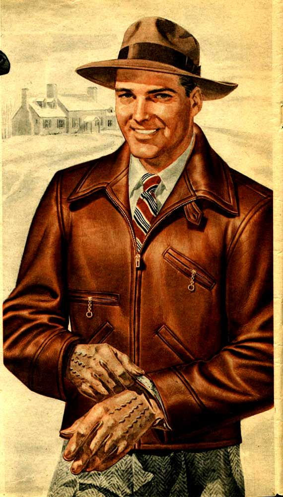 Fashion On The Couch 1940 S Fashion For Men: Vintage Men's Sheepskin Jacket (1942) A Cool Look.