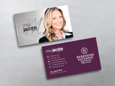 Berkshire Hathaway Business Card Style Bhr221 Keller Williams Business Cards Real Estate Agent Business Cards Realtor Business Cards