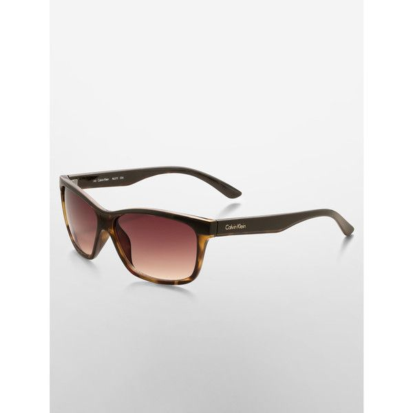 Calvin Klein Color Block Sunglasses ($60) ❤ liked on Polyvore