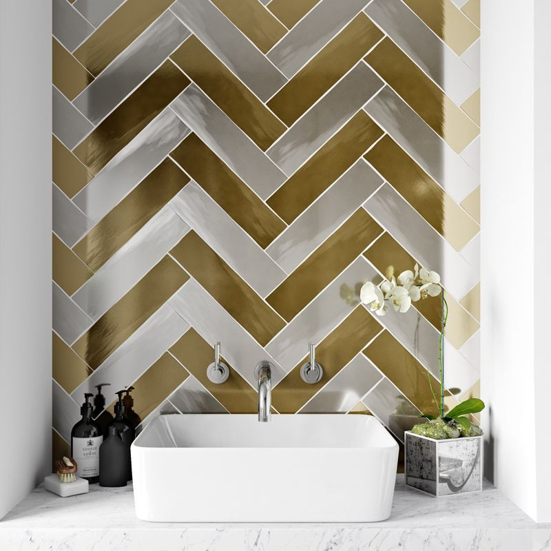 How To Decorate Ceramic Tiles Gold Walls Wall Tiles Gold Tile