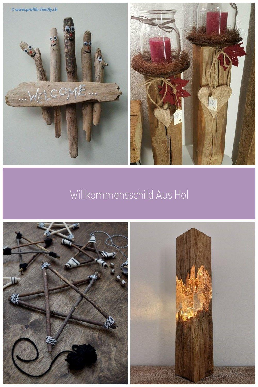 Willkommensschild Aus Holz Aus Holz Willkommensschild Holz Dekoration In 2020
