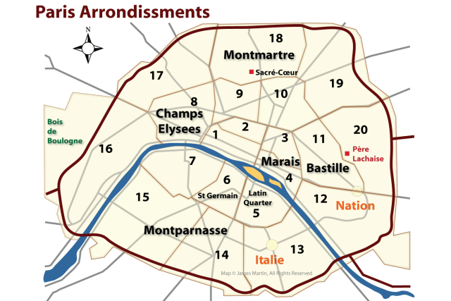 Paris Map Districts.Learn About Arrondissements The Districts Of Paris In 2019 France