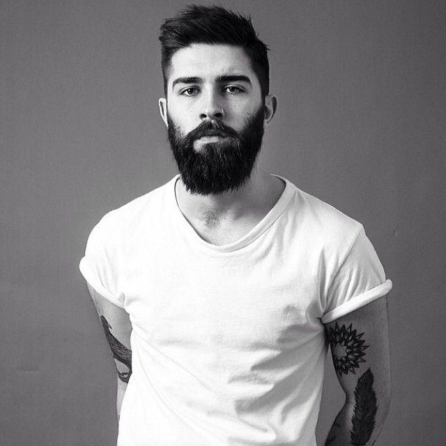 Full Thick Dark Beard And Mustache